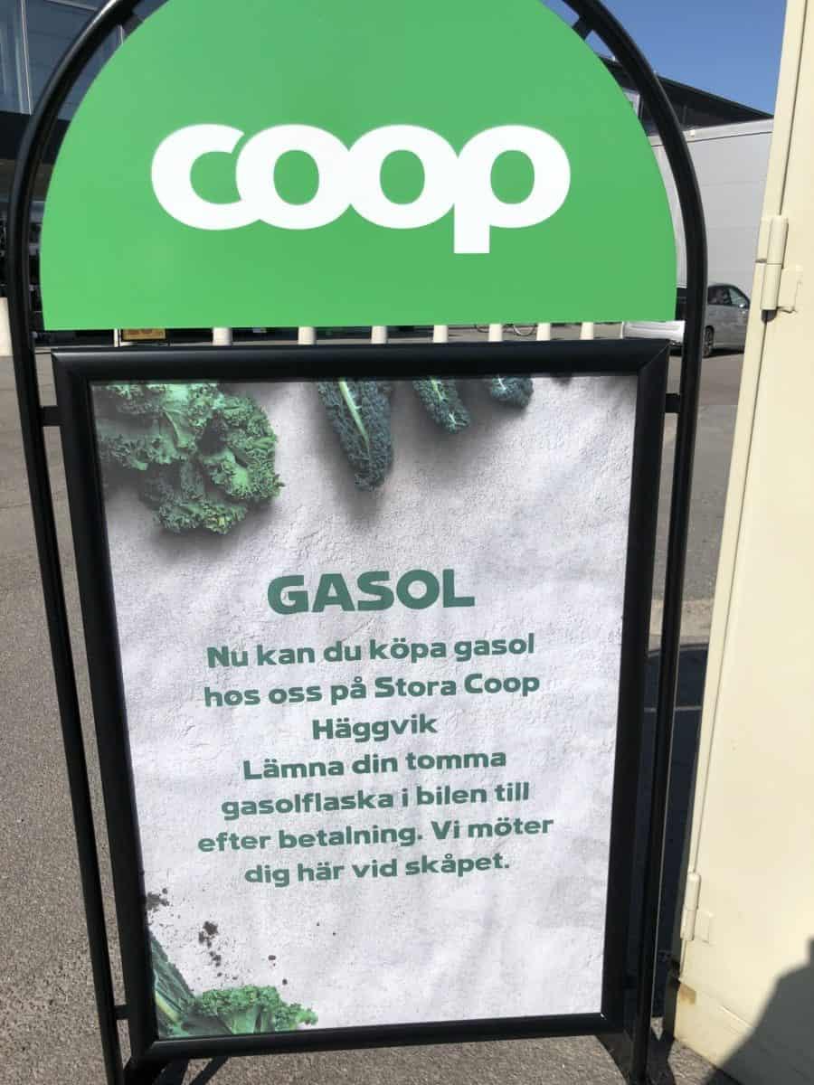 Gasol på Coop